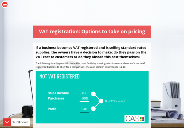 March 2019 - VAT registration: Options to take on pricing