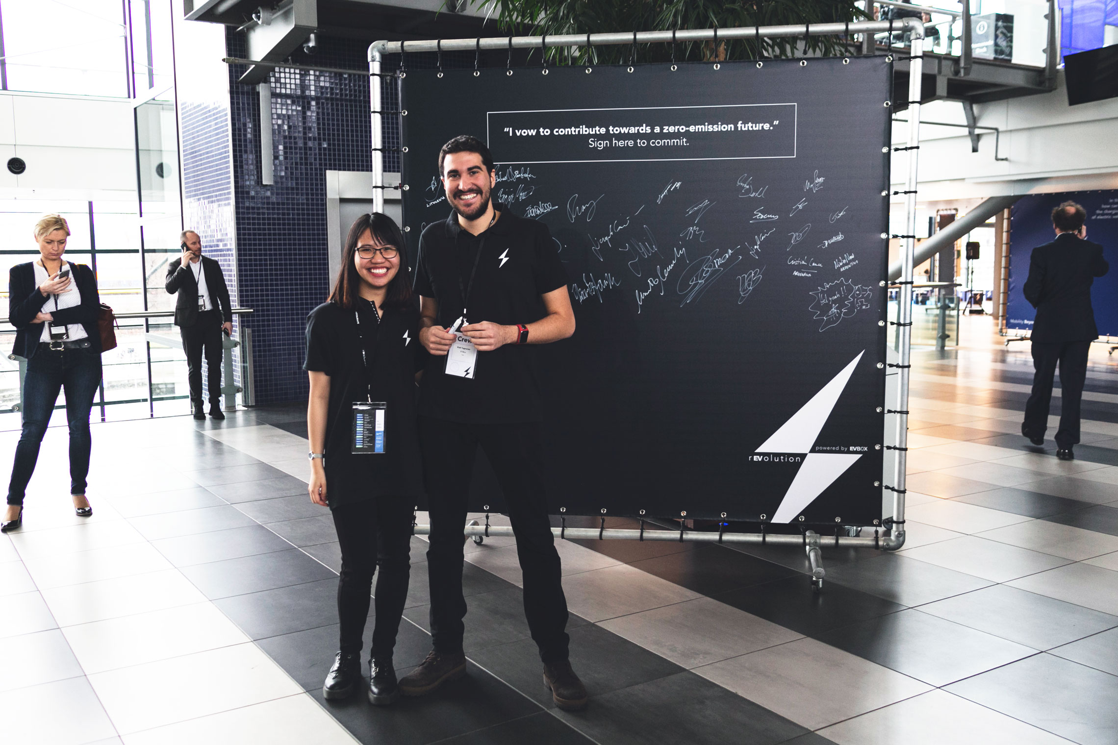 Volunteers at rEVolution 2018 electric mobility conference