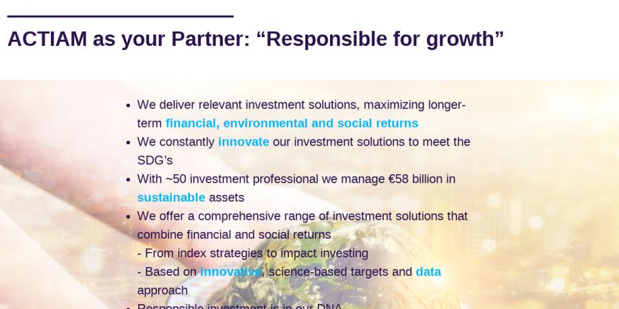 Why ACTIAM - Corporate presentation